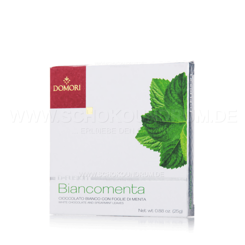 Domori Biancomenta weiße Schokolade mit Minze MHD